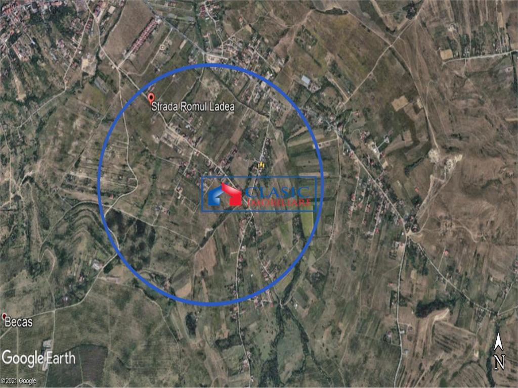 Vanzare teren 8500 mp cu PUZ, zona Borhanci/Becas, Cluj-Napoca!