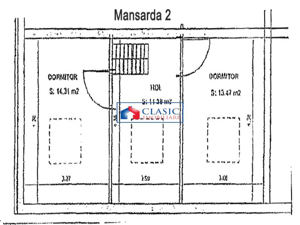 Vanzare apartament 3 camere mobilat si utilat, strada Mircea Eliade, Cartier Europa