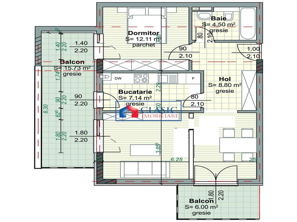 Vanzare apartament 3 camere Piata Abator Centru, Cluj-Napoca