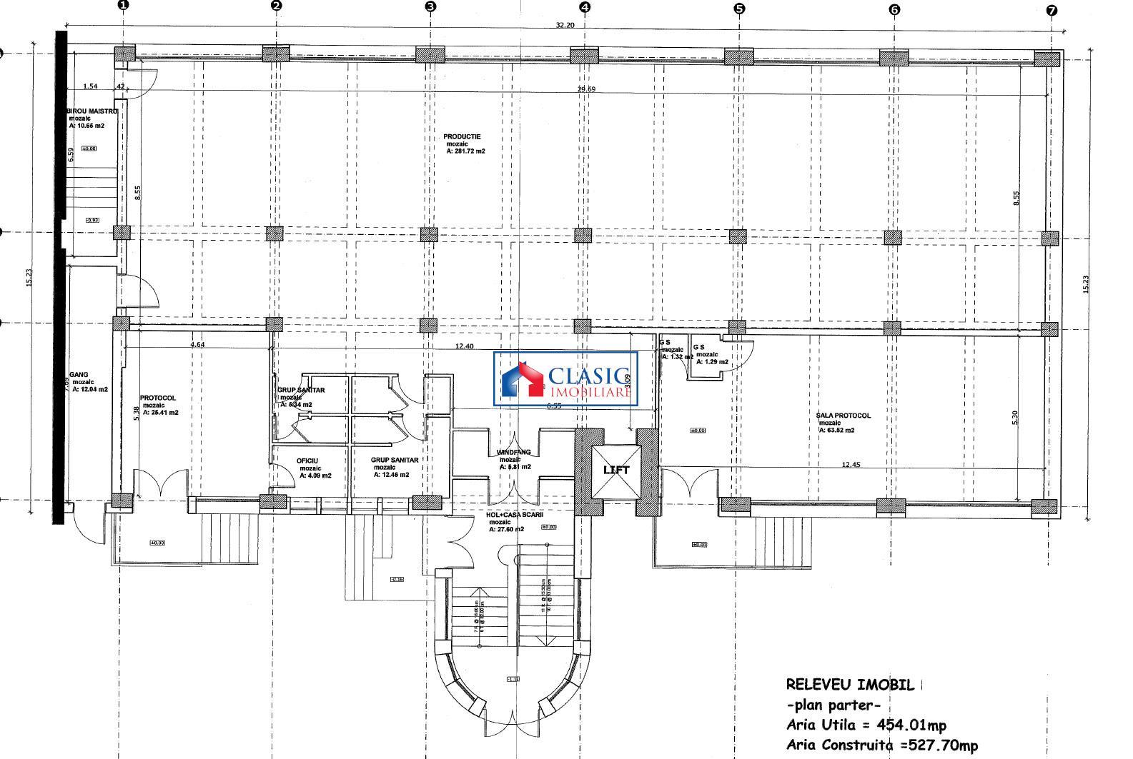 Vanzare cladire 1700 mp, comercial sau birouri, Marasti, Cluj Napoca
