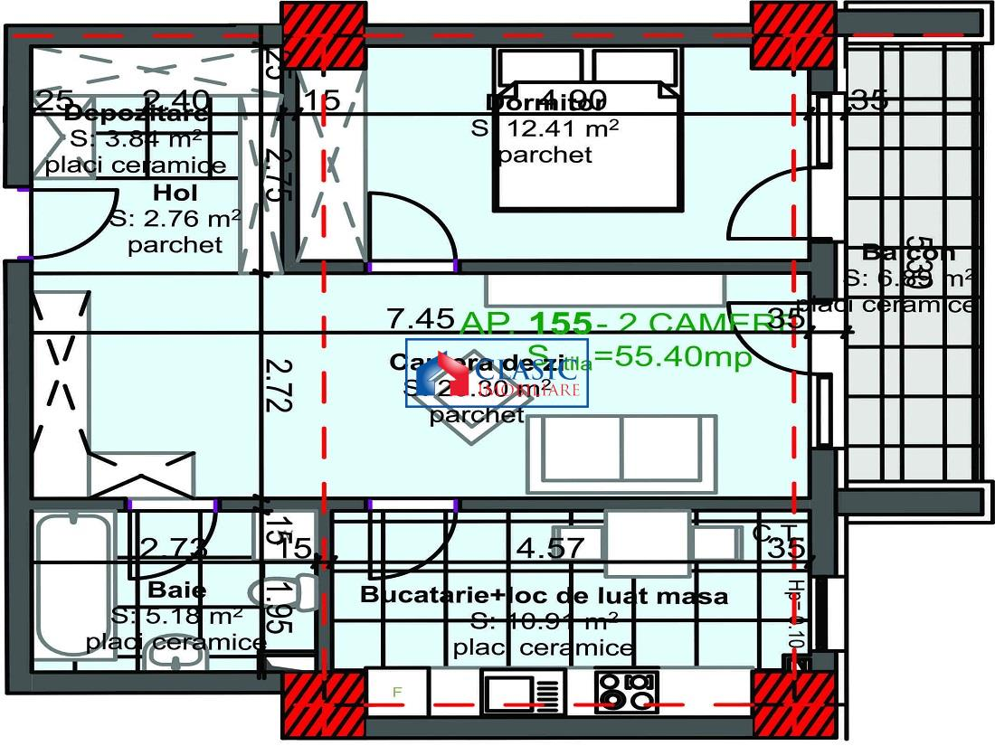Apartament 2 camere decomandat in Marasti, Cluj Napoca