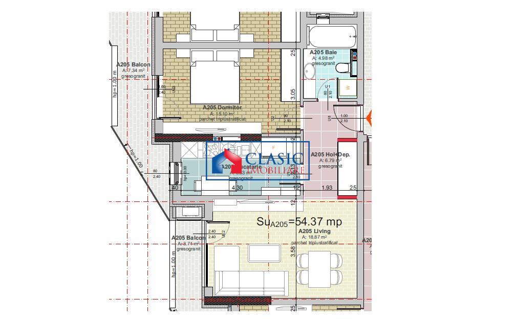 Vanzare Apartament 2 camere locatie de LUX Gheorgheni, Cluj Napoca
