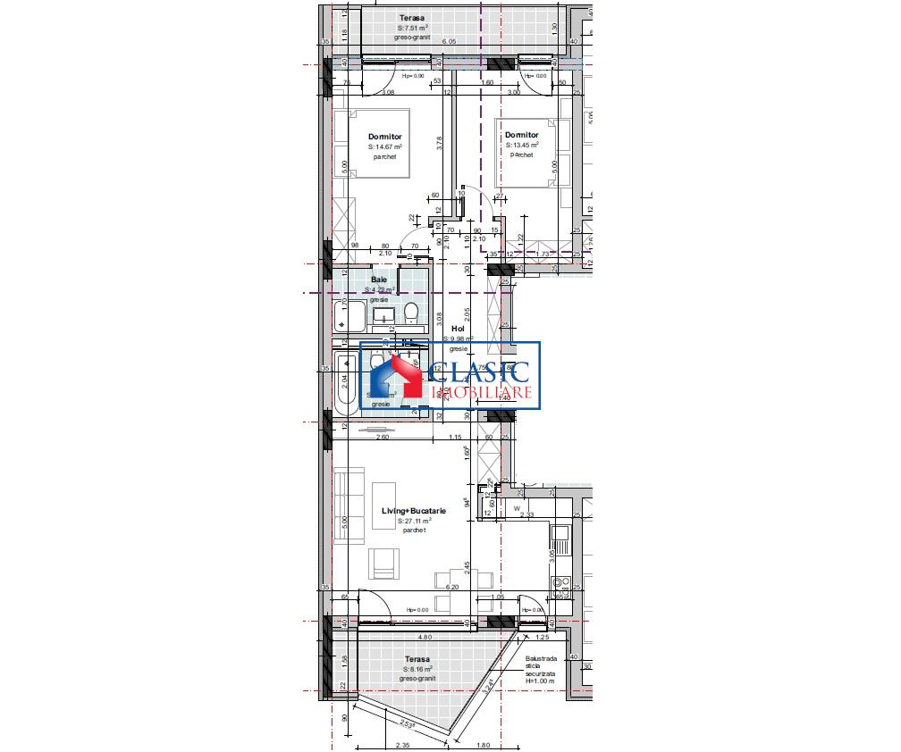 Vanzare Apartament 3 camere Gheorgheni zona Cipariu, Cluj Napoca