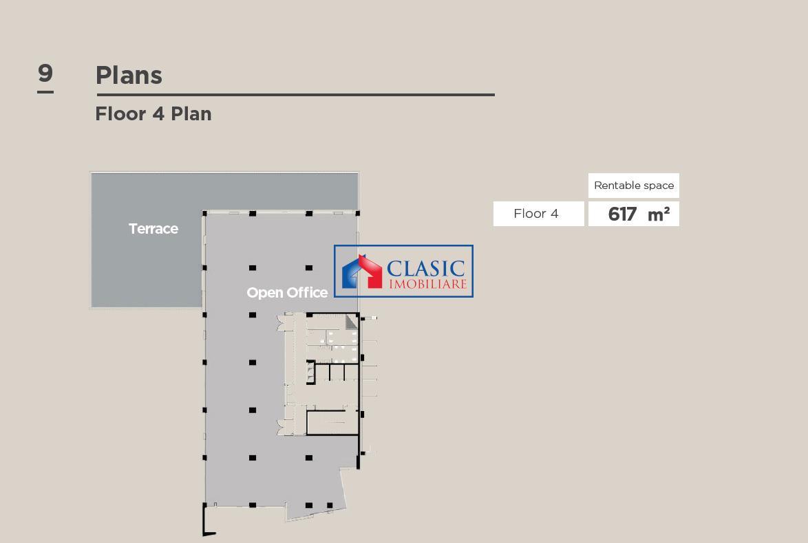 Comision 0%! Inchiriere 990 mp in Business Center clasa A!