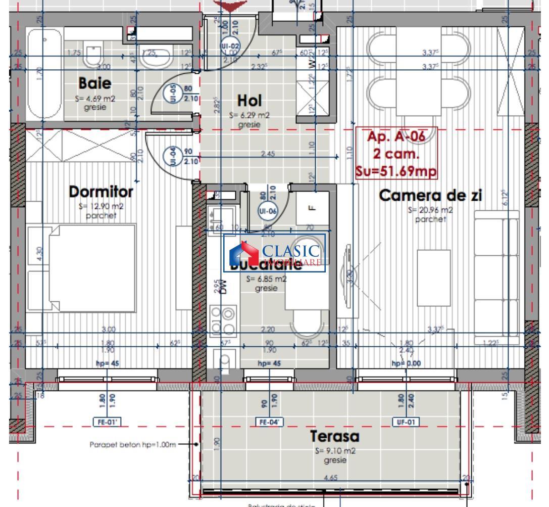 Apartament 2 camere locatie de LUX Marasti   Iulius Mall, Cluj Napoca