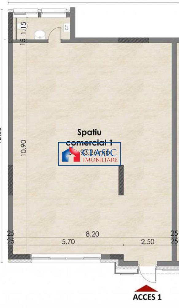 Inchiriere spatiu comercial  birou 93 mp in Buna Ziua Lidl
