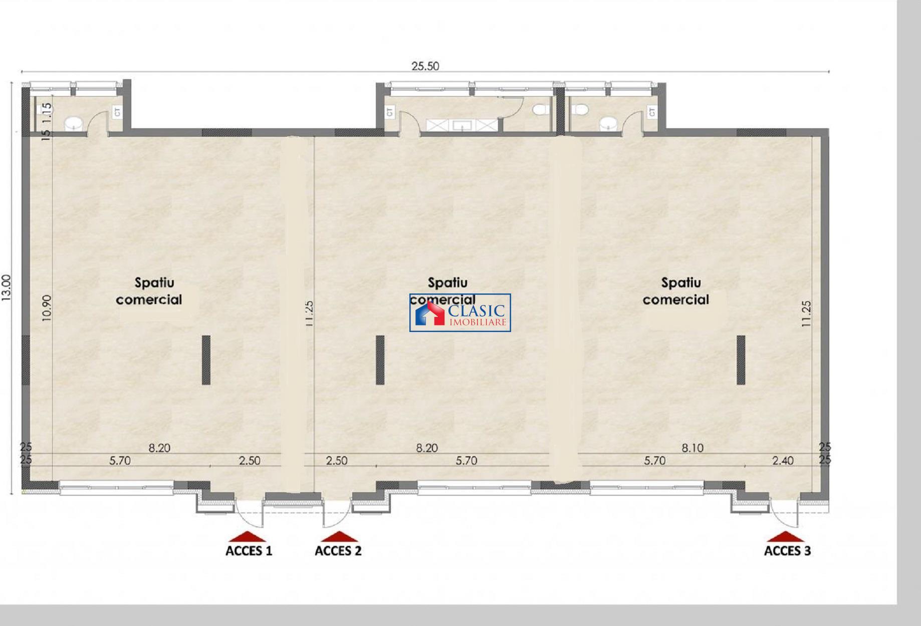 Inchiriere spatiu comercial birou 280 mp in Buna Ziua Lidl