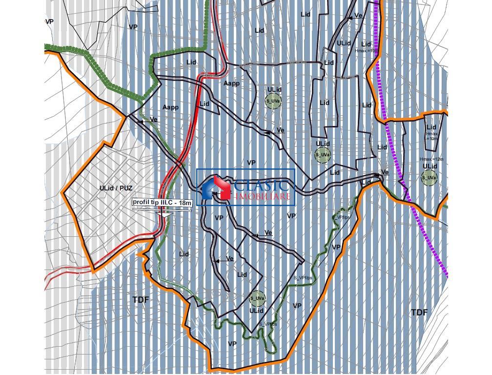 Vanzare 4250 mp Teren pentru constructie case Faget   Vila Tusa