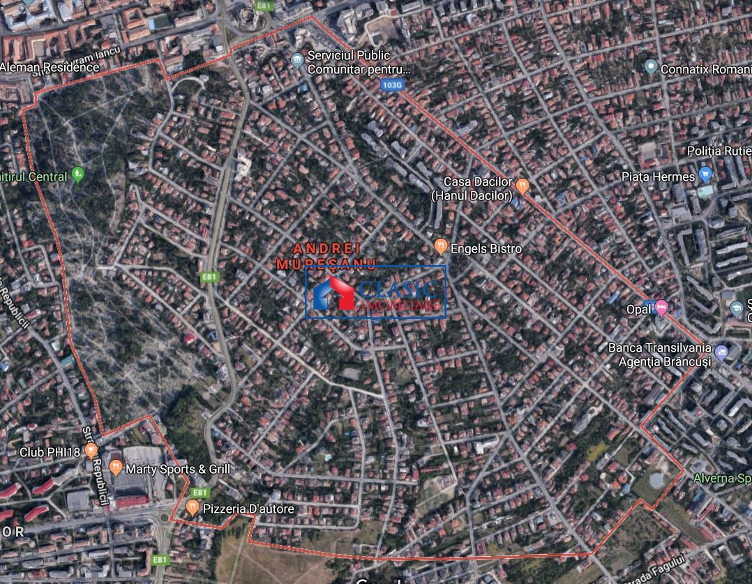 Vanzare teren cu front 28 m la strada asfaltata zona A.Muresanu,