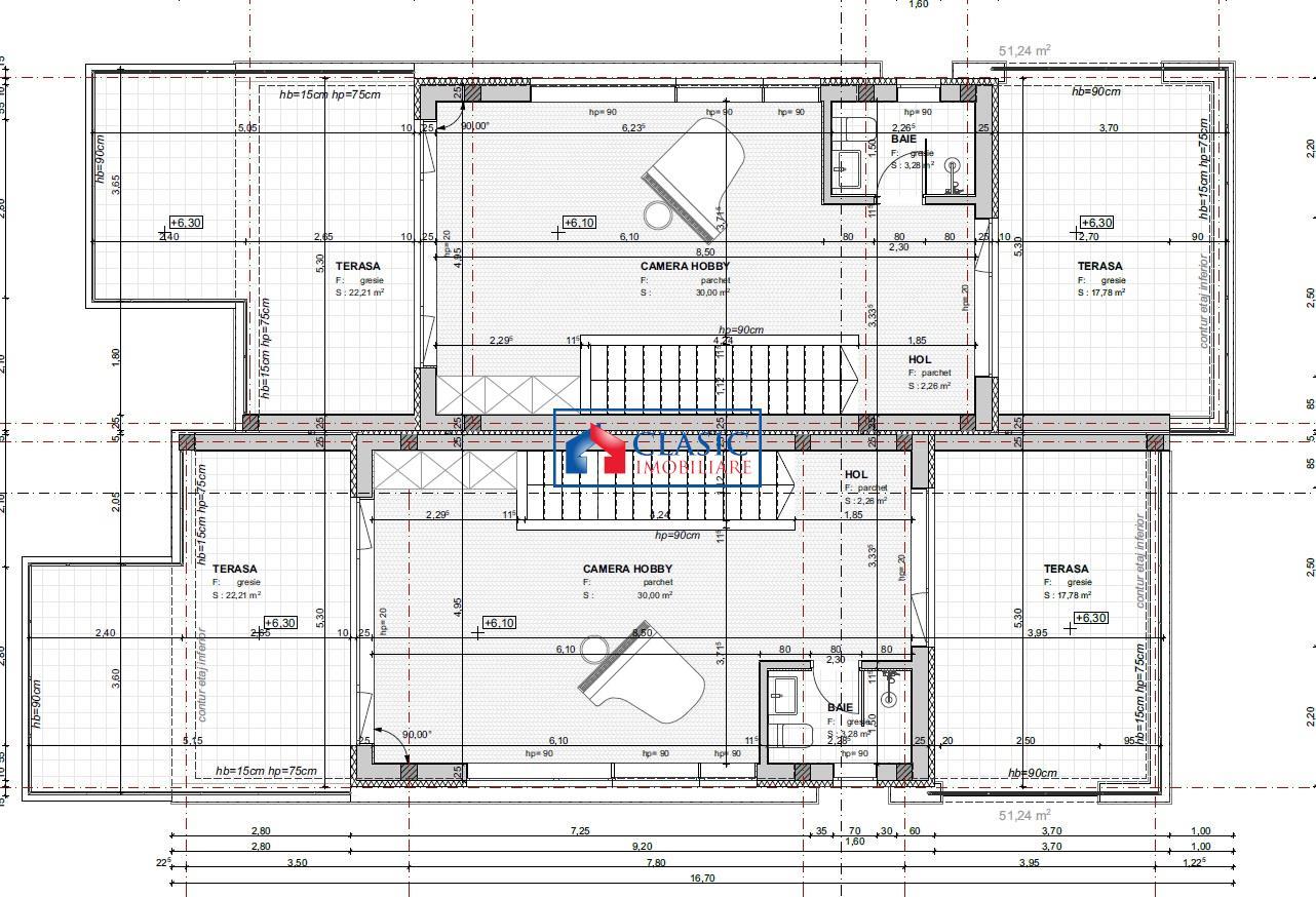 Vanzare teren autorizat constructie duplex in Buna Ziua str Trifoiului