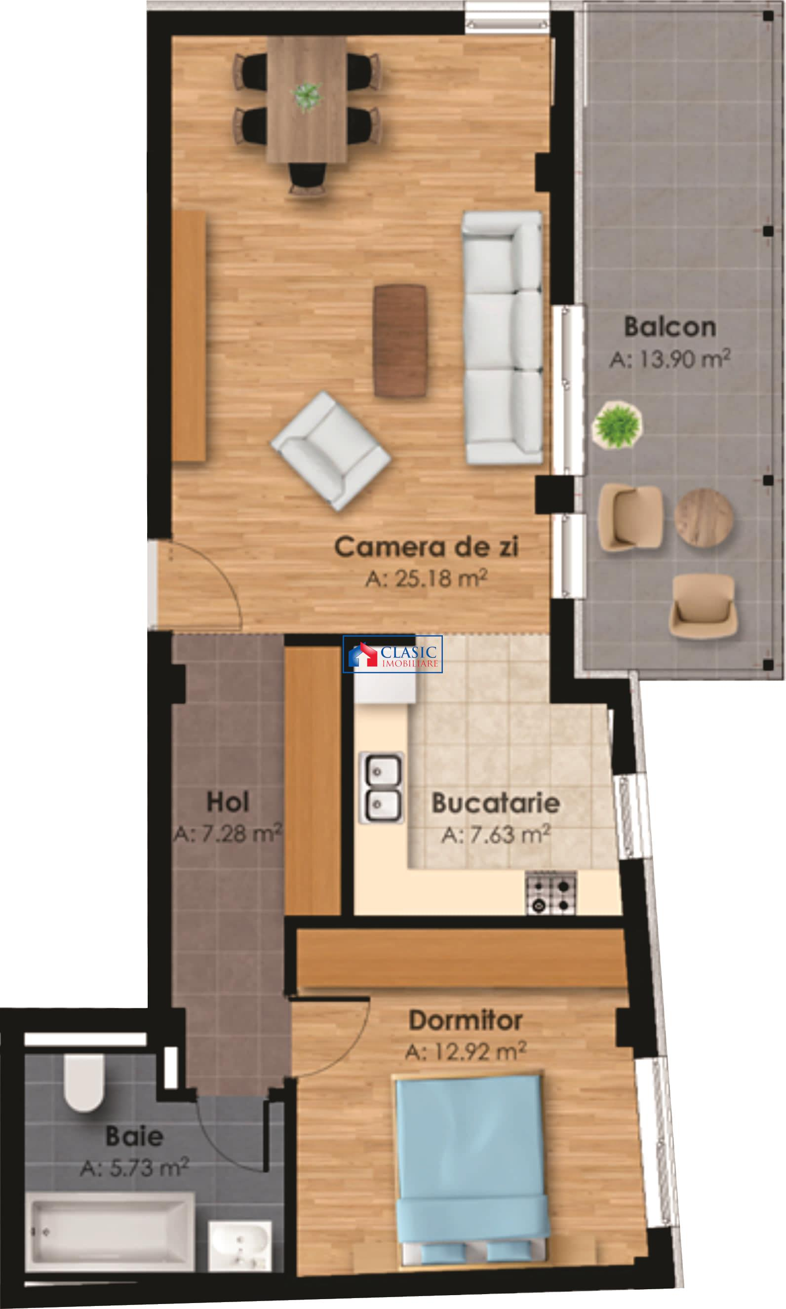 Vanzare Apartament 2 camere cu terasa zona Horea   Centru, Cluj Napoca