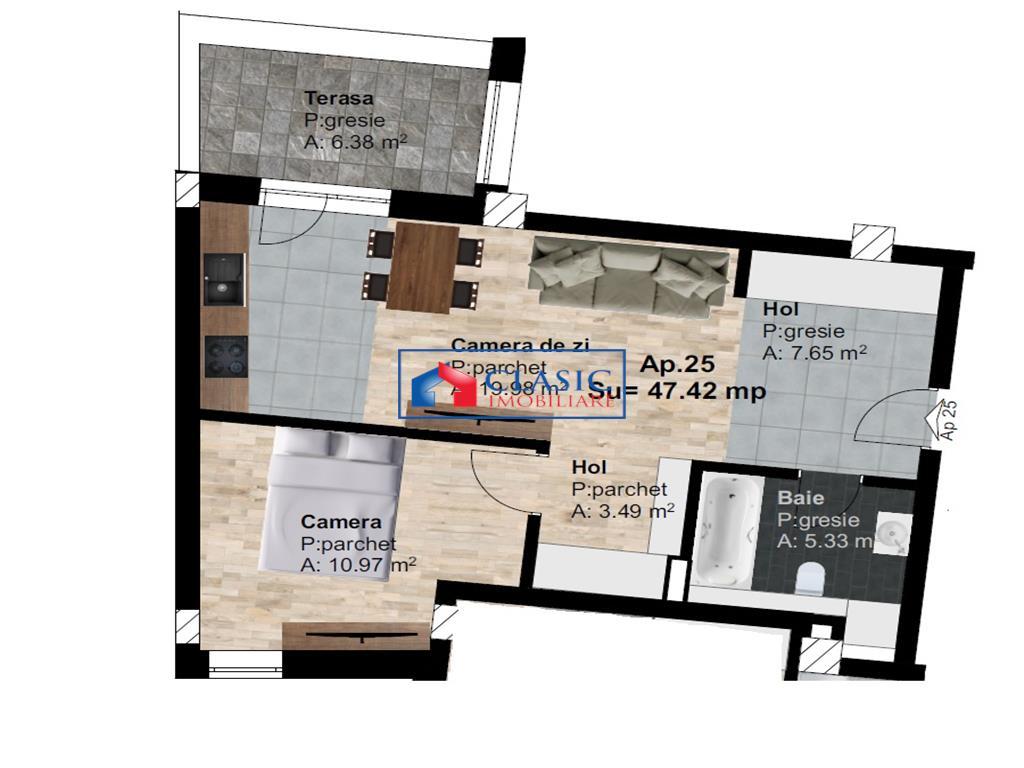 Vanzare apartament 2 camere zona Leroy Merlin Someseni, Cluj Napoca