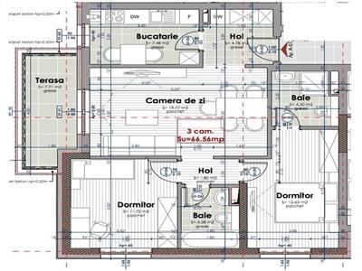 Vanzare apartament 3 camere zona Intre Lacuri, Cluj-Napoca