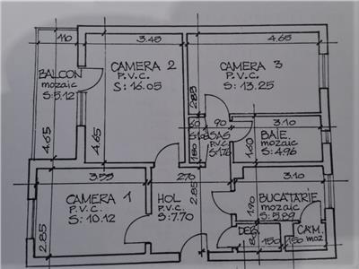 Vanzare apartament 3 camere decomandat zona Parang Manastur, Cluj Napoca