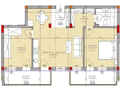 Vanzare apartament 2 camere 62 mp zona Clujana Marasti, Cluj-Napoca