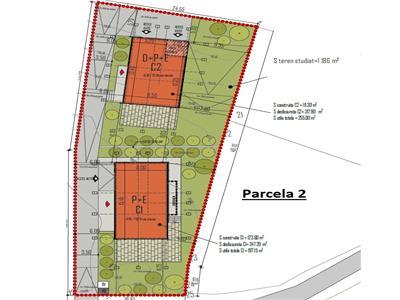 Vanzare teren cu autorizatie pentru 4 case individuale zona Primaria Feleacu