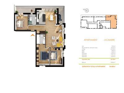 Vanzare apartament 4 camere Buna Ziua LIDL, Cluj-Napoca