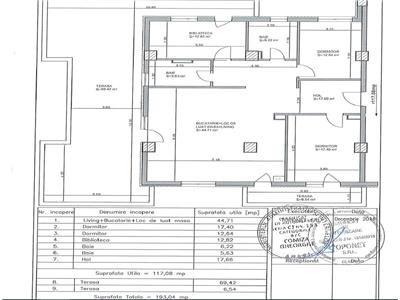 Vanzare apartament 4 camere bloc nou cu terasa 75 mp in Marasti- Iulius Mall