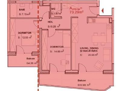 Vanzare apartament 3 camere bloc nou zona Baza Sportiva Gheorgheni, Cluj Napoca