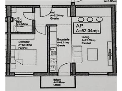 Vanzare apartament 2 camere bloc nou in Dambul Rotund- zona Lidl, Cluj Napoca