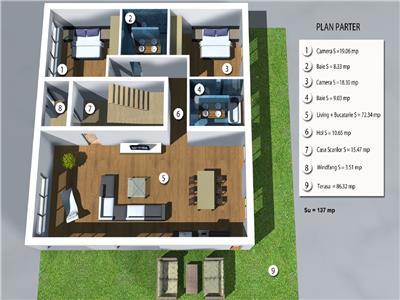 Vanzare apartament de lux cu gradina in A.Muresanu, Cluj-Napoca