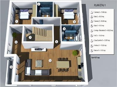 Vanzare apartament de lux  in A.Muresanu, Cluj-Napoca