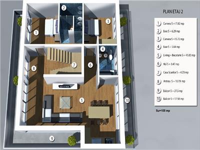 Vanzare apartament de lux cu terasa si priveliste in A.Muresanu