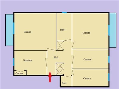 Vanzare Apartament de 4 camere in Plopilor, etaj 3, Cluj-Napoca
