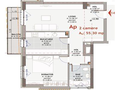 Vanzare Apartament 2 camere cu terasa Semicentral, Cluj-Napoca, USAMV