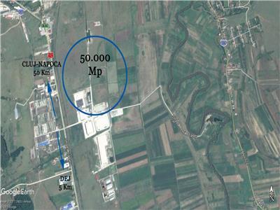 Vanzare 50000 mp in parc industrial zona DEJ, Cluj-Napoca