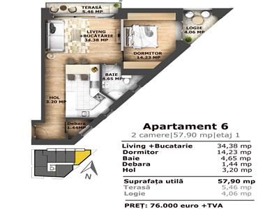 Vanzare Apartament 2 camere de LUX Iris zona Garii, Cluj Napoca