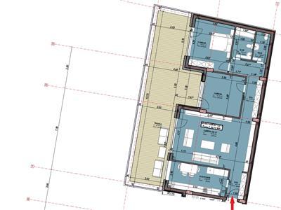 Apartament 3 camere dec cu parcare si terasa de 56 mp, Centru, Astoria