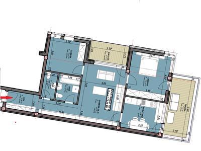 Apartament 3 camere dec cu parcare si terasa 17 mp in Centru, Astoria
