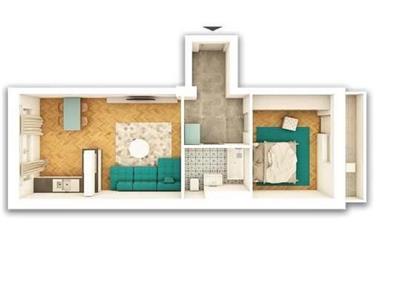 Apartament 2 camere in Centru cu parcare, P-ta Abator