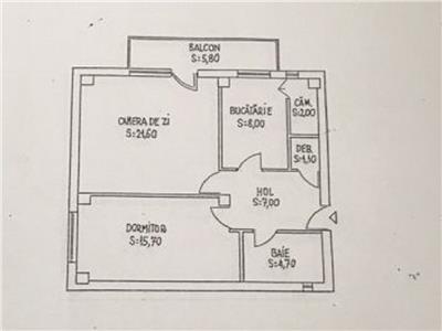 Apartament 2 camere confort sporit in Manastur, Kaufland