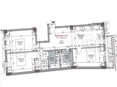 Apartament 4 camere 100 mp, 2 bai, in Centru, P ta M. Viteazu, parcare