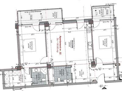Apartament 3 camere 91 mp, 2 bai, in Centru, P ta M. Viteazu, parcare
