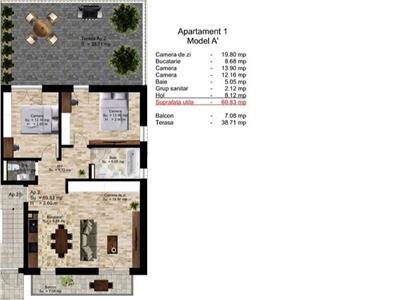 Apartament 3 camere cu gradina si garaj in Manastur, str. Campului