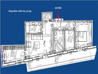 Vanzare Apartament 3 camere finisat zona Centrala   Cluj Arena