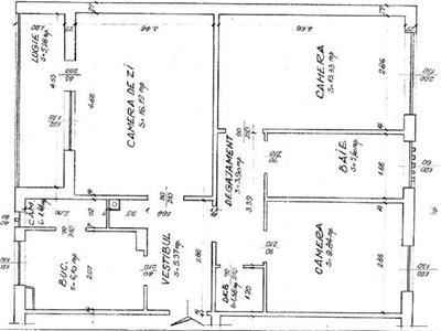 Apartament 3 camere decomandat etaj 1 in Manastur, P ta Flora