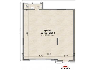 Inchiriere spatiu comercial- birou 93 mp in Buna Ziua-Lidl