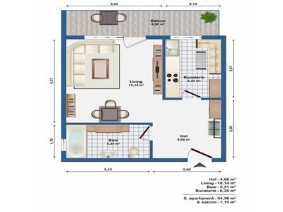 Vanzare Apartament o camera Europa zona Leroy Merlin, Cluj Napoca