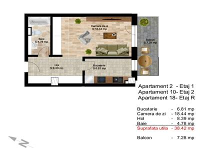 Vanzare apartament o camera, 38 mp utili, zona Centru! Cluj-Napoca