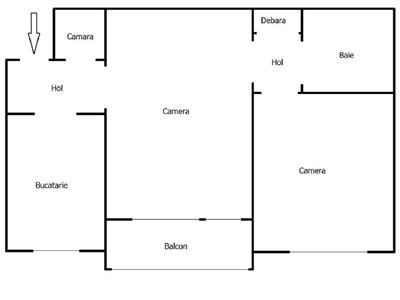 Apartament 2 camere etaj 1 in zona Donath   Grigorescu, Cluj Napoca