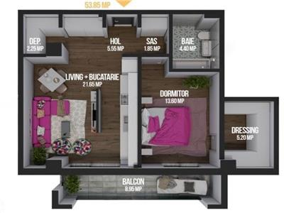 Vanzare Apartament 2 camere zona Calea Turzii   Zorilor, Cluj Napoca