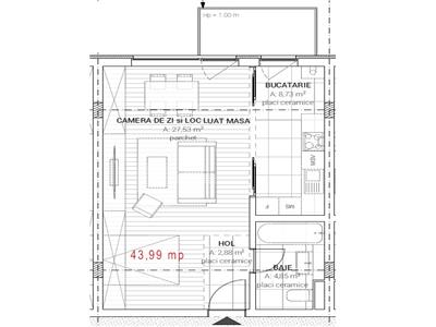 Vanzare Apartament o camera Maramuresului  Dambul Rotund, Cluj Napoca