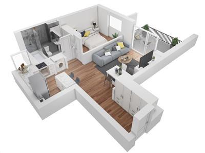 Vanzare apartament 2 camere in bloc nou zona Buna Ziua- Lidl