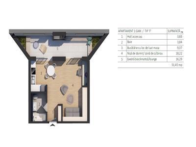 Vanzare Apartament 2 camere zona Autoworld, VIVO Floresti, Cluj-Napoca