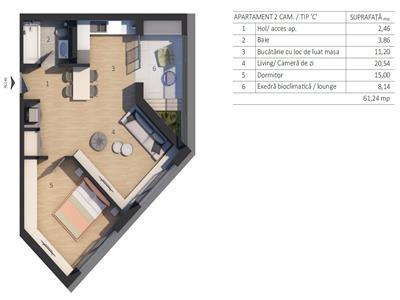 Vanzare Apartament 3 camere zona VIVO, Autoworld Floresti, Cluj-Napoca