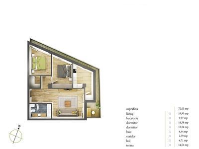 Vanzare apartament 3 camere Semicentral, Cluj-Napoca